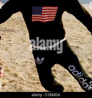 Adidas footballer - Stock Image
