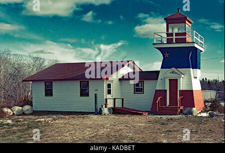 Nova Scotia Lighthouse building as a replica og - Stock Image