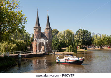Delft The Netherlands Oostpoort Eastern city gates. - Stock Image