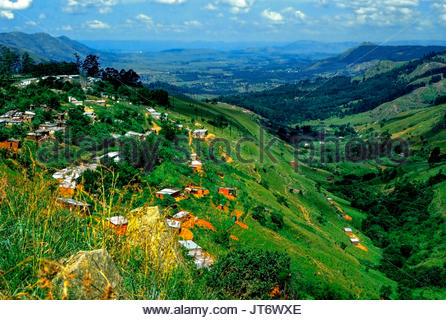 Mbabane, is the capital of Swaziland. It is sometimes referred to the Switzerland of Africa, as it is situated on - Stock Image
