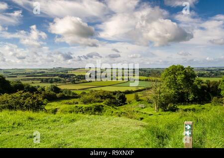 View from Red Hill, Lincolnshire wolds - Stock Image