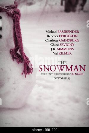 THE SNOWMAN, MOVIE POSTER, 2017 - Stock Image