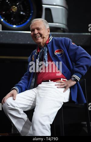 New York, NY, USA. 17th Apr, 2019. Peter Brock in attendance for New York International Auto Show - WED, Jacob K. Javits Convention Center, New York, NY April 17, 2019. Credit: Kristin Callahan/Everett Collection/Alamy Live News - Stock Image