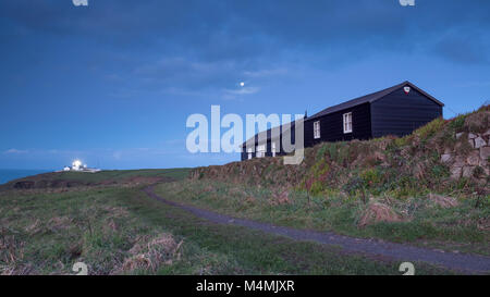 Wireless Cottage The Lizard Cornwall Marconi - Stock Image