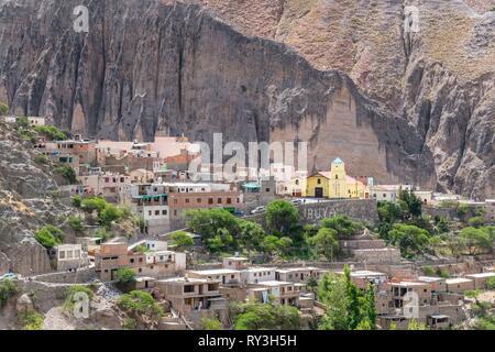 Argentina, Salta province, Quebrada de Humahuaca listed as World Heritage of UNESCO, Iruya village - Stock Image