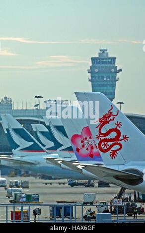 Hong Kong international airport China - Stock Image