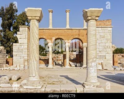 Basilica Of St. John Ephasus Turkey - Stock Image