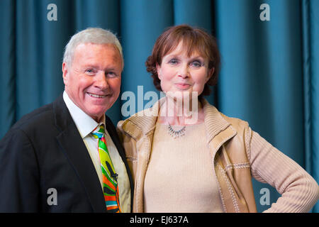 0540Walsall, West Midlands, UK. 22 March 2015. David Hamilton (L) with Madeline Smith English actress, James Bond - Stock Image