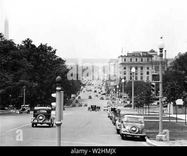 Washington D.C. street scene ca. 1935 - Stock Image