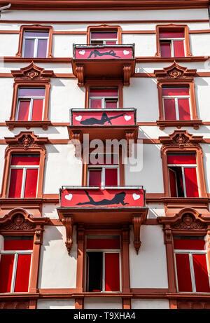 Frankfurt am Main, Bahnhofsviertel, Rotlichtviertel, Taunusstrasse, - Stock Image