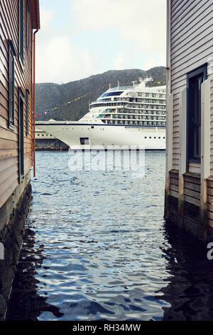 Ferry on sea - Stock Image