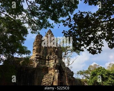 Angkor Wat Temples in Cambodia - Stock Image