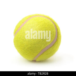 New classic single tennis ball isolated on white - Stock Image