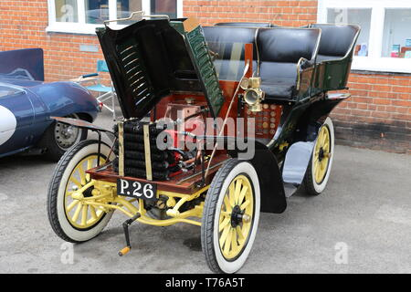 Dennis Tonneau (1902), British Marques Day, 28 April 2019, Brooklands Museum, Weybridge, Surrey, England, Great Britain, UK, Europe - Stock Image