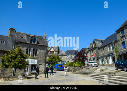 Clear and cloudless deep blue skies on a weekend in Rostrenan, Brittany, France. - Stock Image