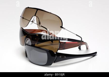 Sunglasses on white background - Stock Image