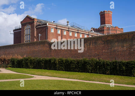 The original Victorian block for Reading Prison, Oscar Wilde was famously imprisoned there. - Stock Image