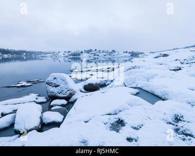 Lake in winter - Stock Image