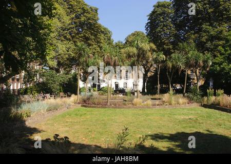 Park at Canonbury Square Islington London - Stock Image