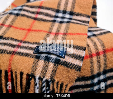 Burberry Scarf, Burberry was founded in 1856 by Thomas Burberry - Stock Image