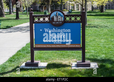 Washington Square Park, Salt Lake City - Stock Image