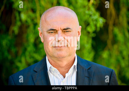 Prague, Czech Republic. 03rd June, 2019. Ivan Moravek, acting head of the National Gallery Prague (NGP), poses for the photographer within a press conference on the current situation in the gallery, on June 3, 2019, in Prague, Czech Republic. Credit: Vit Simanek/CTK Photo/Alamy Live News - Stock Image