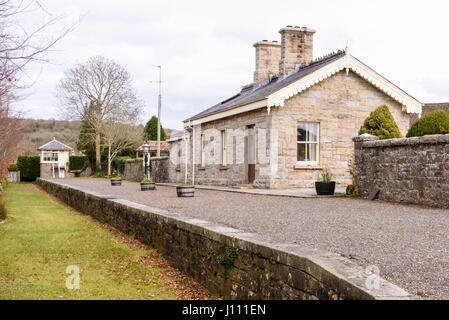Belcoo railway signalman's house, now a private residence. - Stock Image