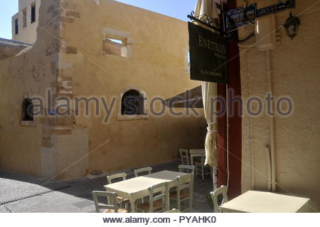 Colors and details of Chania city in Crete - Stock Image