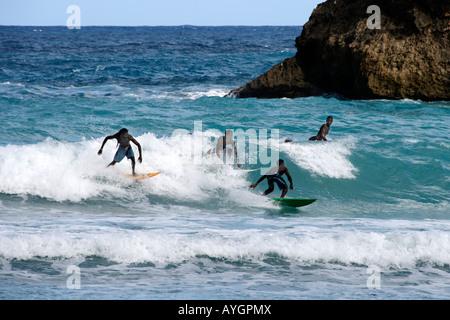 Jamaica Boston Bay Surfer - Stock Image