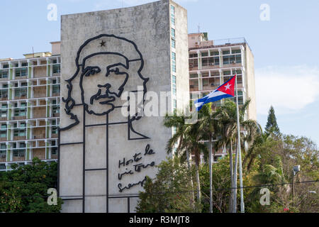 Cuba, Havana. Ministry of the Interior at Revolution Square. Credit as: Wendy Kaveney / Jaynes Gallery / DanitaDelimont.com - Stock Image