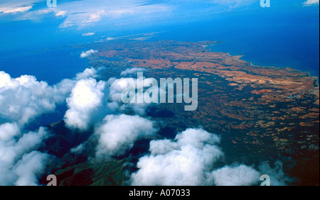 Venezuela Coastline from the Air - Stock Image
