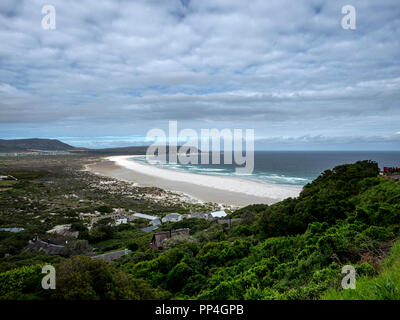 Noordhoek Beach and the South Atlantic, Western Cape near Cape Town, South Africa, from Chapman's Peak Drive - Stock Image