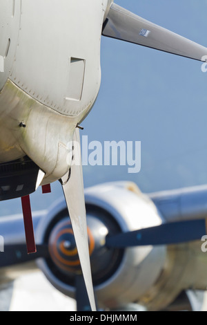 Aircraft propeller engine close up - Stock Image
