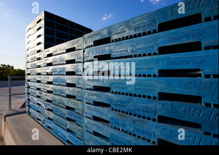 Stacked pallets - Stock Image