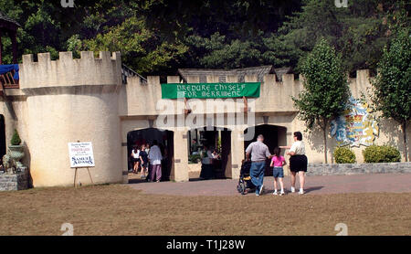 The entrance to the Renaissance Festival in Crownsville, Md - Stock Image