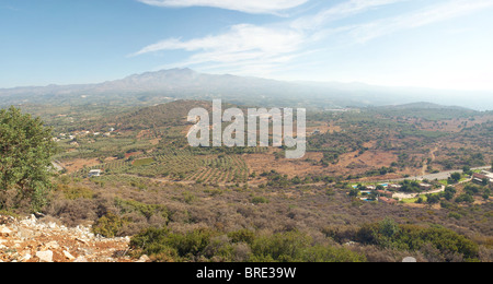 Looking toward Mt Ida Crete Greece - Stock Image