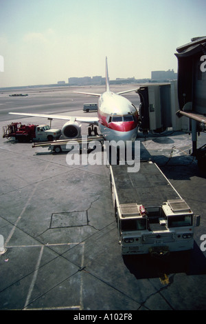 Airplane JFK Airport New York USA - Stock Image