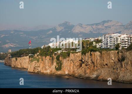 Dramatic coastline on the turquoise coast in Antalya, Turkey - Stock Image