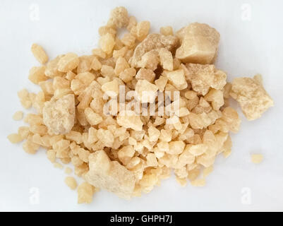Newly synthesized MDMA (Ecstasy) in crystal form, usually ground into powder and combined will binder and dye to - Stock Image