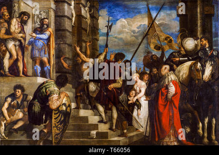 Ecce Homo by Titian, painting, 1543 - Stock Image