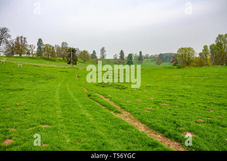 A view of the Shropshire countryside near the village of Worfield. - Stock Image