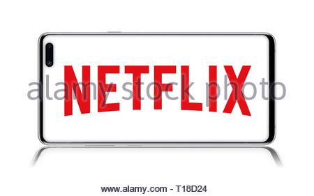 Netflix logo - Stock Image