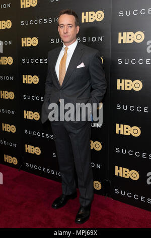 New York, United States. 22nd May, 2018. Matthew Macfadyen attends HBO drama Succession premiere at Time Warner Center Credit: Lev Radin/Pacific Press/Alamy Live News - Stock Image