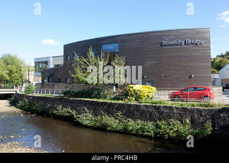 Sowerby Bridge swimming pool and fitness centre, West Yorkshire - Stock Image