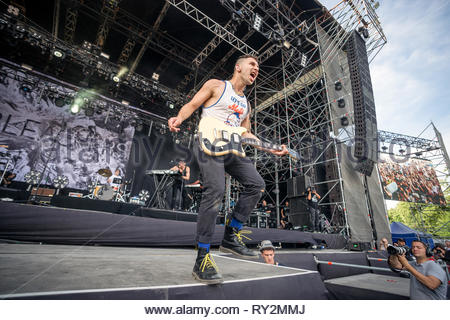BLEACHERS performing live, 12 juillet 2015 - Stock Image