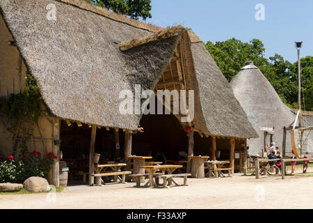 Buildings at Le Village Gaulois, Cotes d'Armor, Brittany, France, Europe. - Stock Image