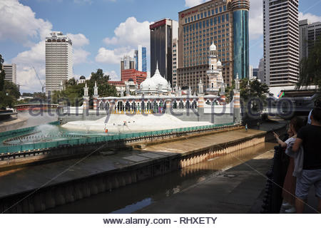 The Masjid Jamek the oldest mosque in Kuala Lumpur city centre, Malaysia. - Stock Image