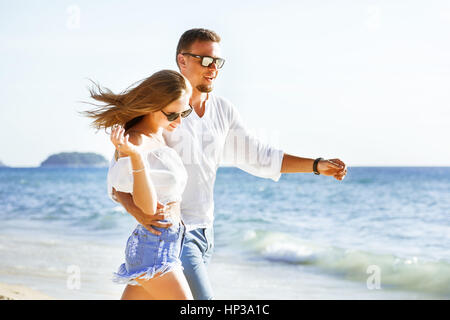 Couple honeymoon sea vacations travel - Stock Image