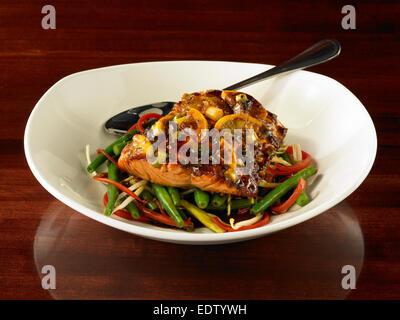 Spicy Salmon - Stock Image