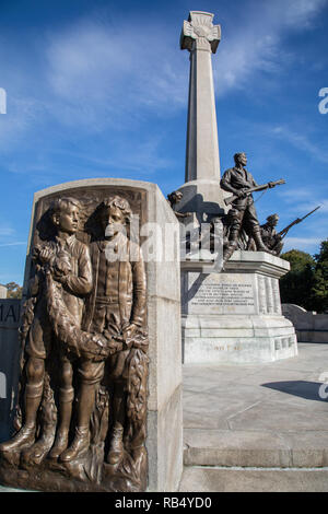 Memorial to mark Lever Brothers employees lost in the First Wolrd War at Port Sunlight Wirral September 2018 - Stock Image